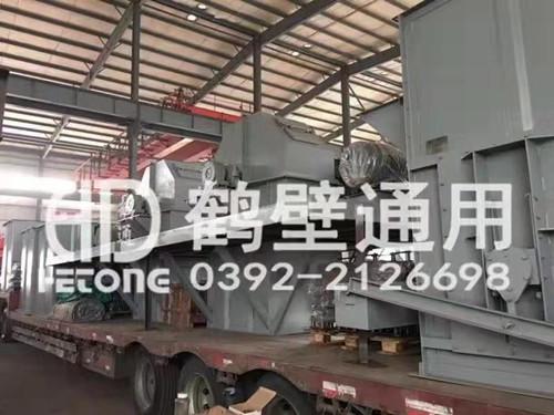鹤壁通用NE板链斗式提升机发货现场
